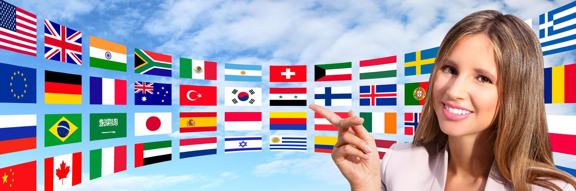 Viele verschiedene Flaggen